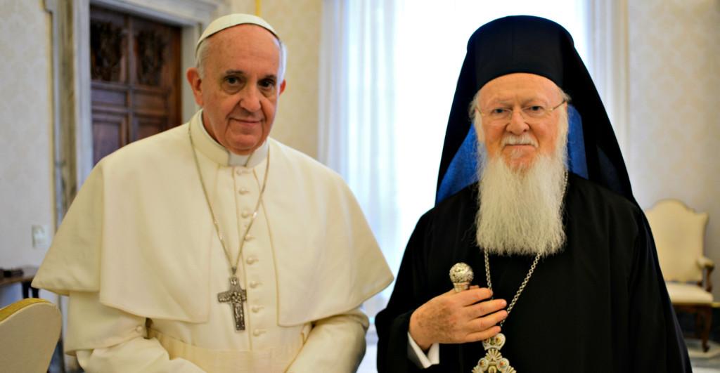 Bergoglio e Bartolomeo I