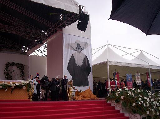 Un momento della Beatificazione di Suor Nicoli a Cagliari il 3 febbraio 2008