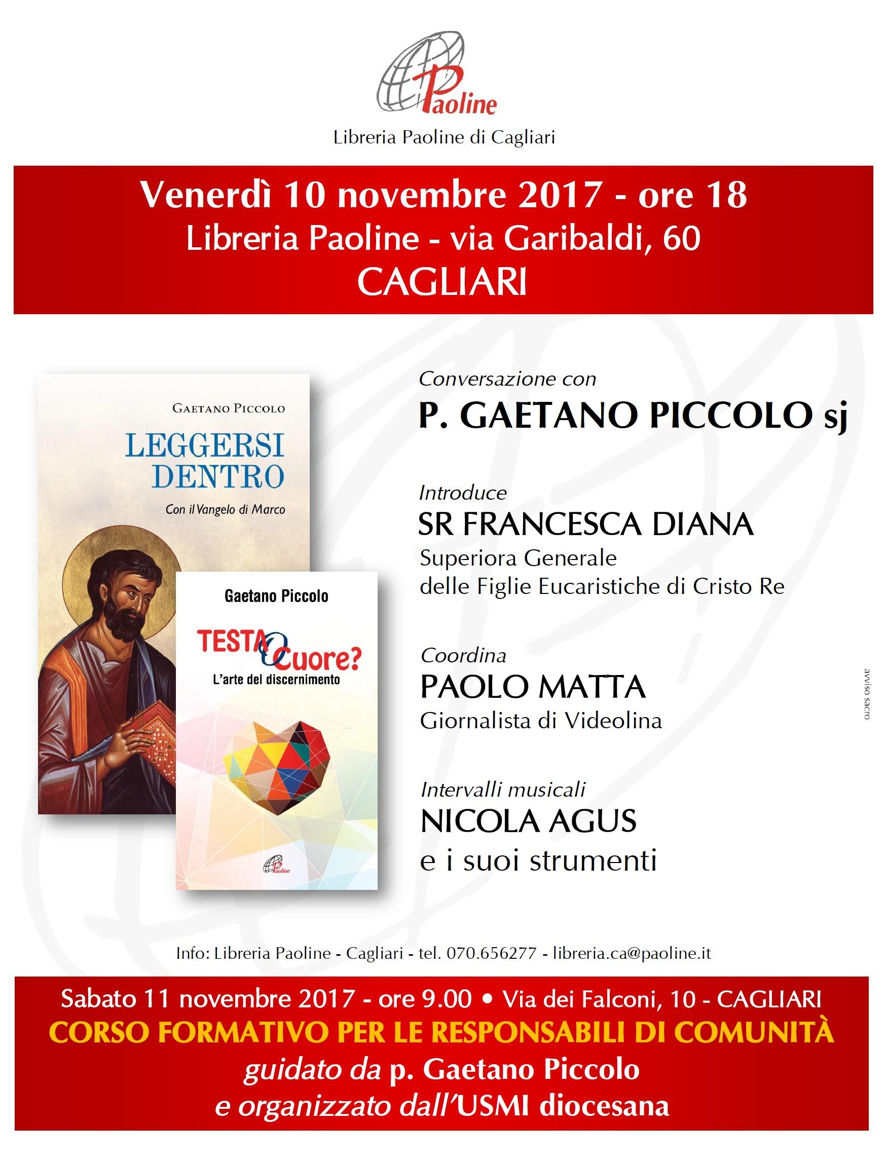 INCONTRO CON PADRE GAETANO PICCOLO sj